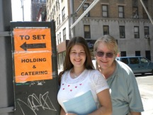 Dad and I on the way to the SVU set